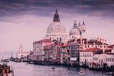 Santa Maria della Salute and Grand Canal in Venice, Italy.