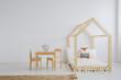 White, simple kid room