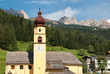 Quadro Church in Soraga, Val di Fassa, italian Dolomites