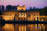 Palace on the Isle at Twilight in Warsaw, Poland - 159485824