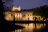 Palace on the Isle at Night in Lazienki Park in Warsaw, Poland - 159485868