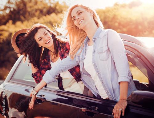 Two woman having fun