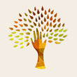 Hand tree concept illustration for nature help