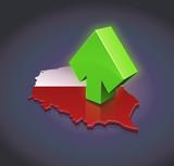 Pologne à la la hausse (fond sombre)