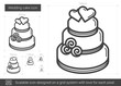 Wedding cake line icon.