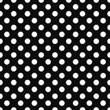 seamless retro background with white dots on a black background.