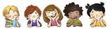 caras de niños felices - 159514414