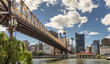 View From Roosevelt Island of 59th Street Bridge, Tram, Manhattan Skyline And East River