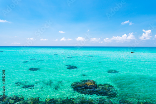 Sea, landscape. Okinawa, Japan, Asia.