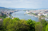 View of Budapest city and Danube river, Hungary.