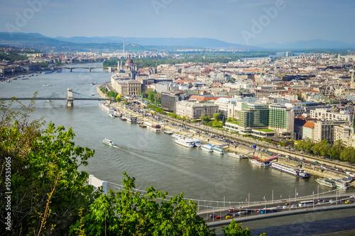 Foto op Plexiglas Kiev View of Budapest city and Danube river, Hungary