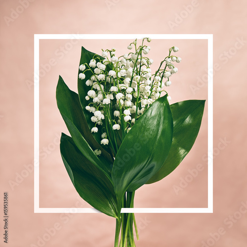 Fotobehang Lelietjes van dalen Bouquet Lily Of The Valley