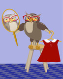 Owl with mirror