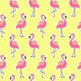 Beautiful seamless pattern with flamingo