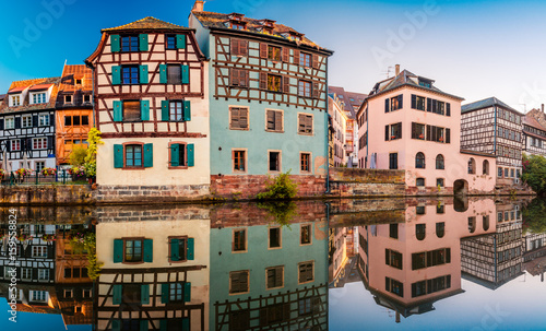 Stunning view of Strasbourg in France in Summer