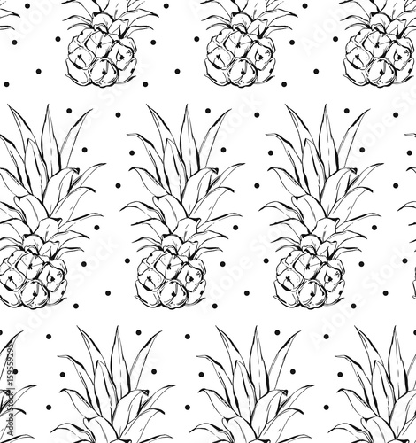 Pineapple pattern. Simple illustration of pineapple vector pattern for web - 159559295