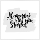 Hand lettering motivational quote