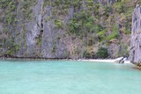 Beautiful Lagoon with limestone rocks in the Philippines