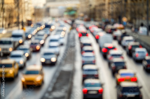 Plakat Urban roads with cars traveling