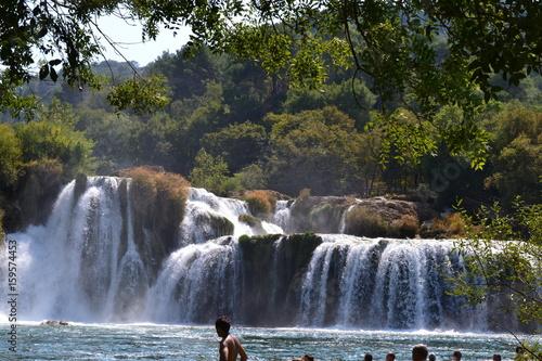 waterfalls in Krka Nation Park - 159574453