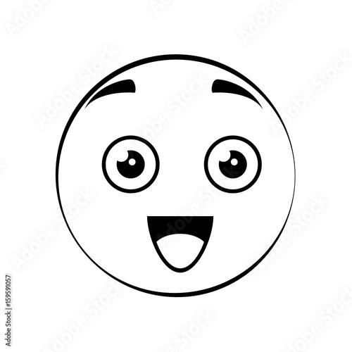 Cute cartoon face icon vector illustration graphic design - 159591057