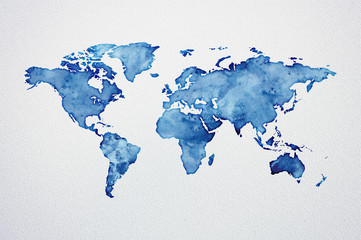 Watercolor World Map