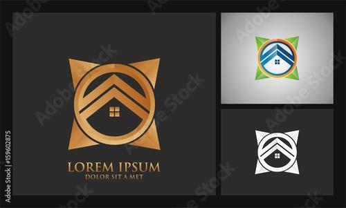 square rural house logo - 159602875