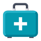 First aid kit vector icon in flat style - 159608072