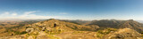 Panorama of Savanna Landscape in Mountains of Swaziland, Africa