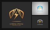 mountain power shield electric logo