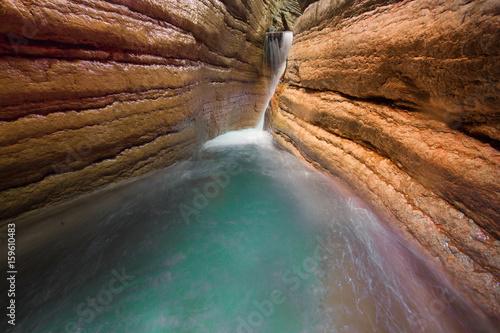 Wasserfall in einem Canyon in Salzburg Nähe Bad Vigaun - 159610483
