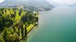 Bellagio - Lago di Como (IT) - Villa Melzi con parco - Vista aerea