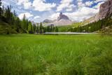 Alpine mountain summer lake