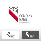 Business logo design with owl. Vector illustration