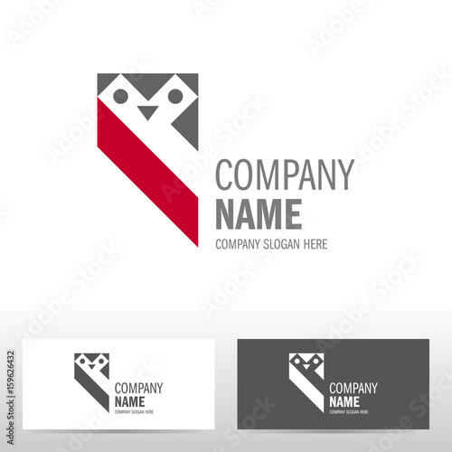 Foto op Plexiglas Uilen cartoon Business logo design with owl. Vector illustration