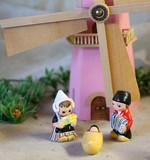 nativity scene with Holland windmill