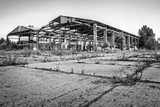 Abandoned dilapidated industrial building