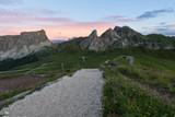 Alpine mountain valley summer landscape