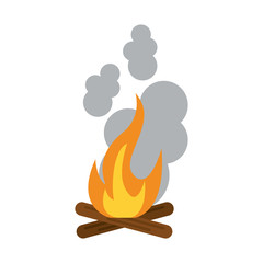 Hot fire flame icon vector illustration design graphic