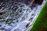 Natural background waterfall water in motion