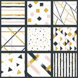 Set of abstract metallic patterns - 159650847