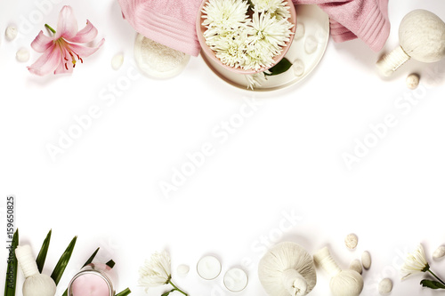 Health and beauty template with Natural spa products