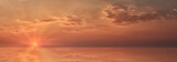 Panoramic view of evening colorful sky with clouds at sunset leaving for horizon.
