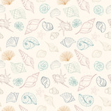 Seashell seamless pattern - 159659673