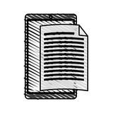 Letter padlock drawn icon vector illustration design graphic doodle