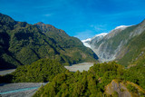 Franz Josef Glacier and valley floor, Westland, South Island, New Zealand