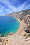 Famous beach Platia Ammos on Kefalonia island in Greece