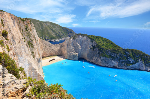 Papiers peints Naufrage Navagio Beach on Zakynthos Island in Greece