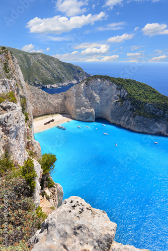 Spoed canvasdoek 2cm dik Schipbreuk Navagio Beach on Zakynthos Island in Greece