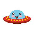 unidentified flying object comic character vector illustration design kawaii